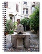 St. Paul De Vence Fountain Spiral Notebook