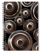 Stack Of Batteries Spiral Notebook