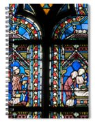 Stained Glass Window Of Notre Dame De Paris. France Spiral Notebook