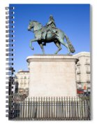 Statue Of King Charles IIi In Madrid Spiral Notebook