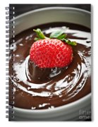 Strawberry Dipped In Chocolate Spiral Notebook