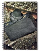 Suitcase And Hats Spiral Notebook