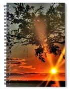 Summers Breeze Sunsets Through Tress Spiral Notebook