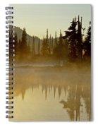Sunlight On An Alpine Lake Spiral Notebook