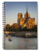 Sunrise Over Notre Dame Spiral Notebook