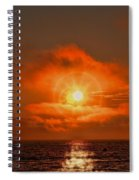 Sunset Over The Pacific Spiral Notebook