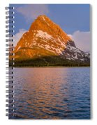 Swiftcurrent Lake Panorama Spiral Notebook