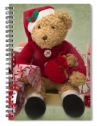 Teddy At Christmas Spiral Notebook