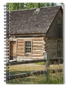 Teddy Roosevelt's Maltese Cross Log Cabin Spiral Notebook