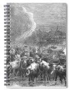 Texas: Cattle Drive, 1867 Spiral Notebook