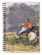 Texas Cowboys, C1850 Spiral Notebook