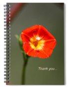 Thank You - Card Spiral Notebook