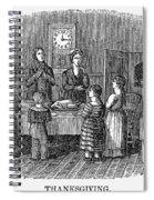 Thanksgiving, 1853 Spiral Notebook