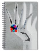 The Black Hand In Negative Spiral Notebook
