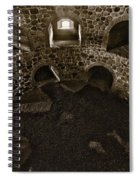 The Castle Of Tavastehus Bw Spiral Notebook