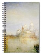 The Dogana And Santa Maria Della Salute Venice Spiral Notebook