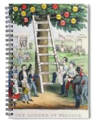 The Ladder Of Fortune Spiral Notebook