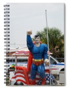The Man Of Steel On I 95 Spiral Notebook