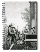 The Mozart Family On Tour, 1763 Spiral Notebook