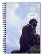 The Praying Monk With Halo - Camelback Mountain Spiral Notebook
