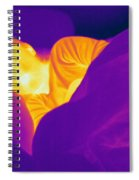 Thermogram Of A Sleeping Girl Spiral Notebook