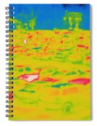 Thermogram Of Cars In A Parking Lot Spiral Notebook