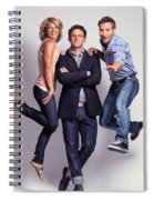 Three Fashionably Dressed Young People Spiral Notebook