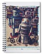 Toy Robots Spiral Notebook
