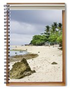 Tropical White Sand Beach Paradise Window Scenic View Spiral Notebook