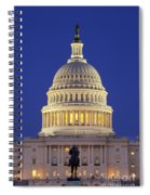 Twilight Over Us Capitol Spiral Notebook