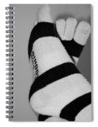 Val's Feet In Black And White Spiral Notebook