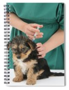 Vet Giving Pup Its Primary Vaccination Spiral Notebook