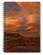Vibrant Sunset Over The Rim Of Canyon Spiral Notebook