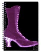 Victorian Ladies Boot Spiral Notebook