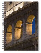 View Of The Roman Coliseum In Rome Spiral Notebook