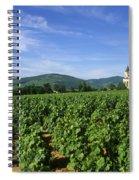 Vineyard. Regnie-durette. Beaujolais Wine Growing Area. Departement Rhone. Region Rhone-alpes. Franc Spiral Notebook