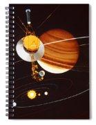 Voyager Saturn Flyby Artwork Spiral Notebook