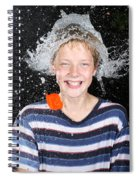 Water Balloon Popped Above Boys Head Spiral Notebook