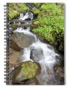 Water Cascading Over Rocks, Mount Hood Spiral Notebook