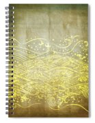 Water Pattern On Old Paper Spiral Notebook