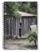 Watercolor Barn Spiral Notebook