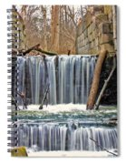 Waterfalls At Old Erie Canal Locks Spiral Notebook