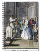 Wedding, C1730 Spiral Notebook