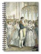 Wedding Of Queen Victoria Spiral Notebook