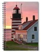 West Quoddy Head Lighthouse Spiral Notebook