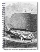 Whaling, 1850 Spiral Notebook