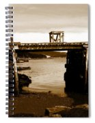 Wharf At Low Tide Spiral Notebook