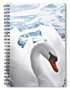 White Swan On Water Spiral Notebook