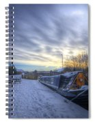 Winter At The Boat Inn Spiral Notebook