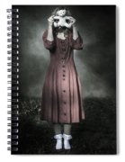 Woman And Teddy Spiral Notebook